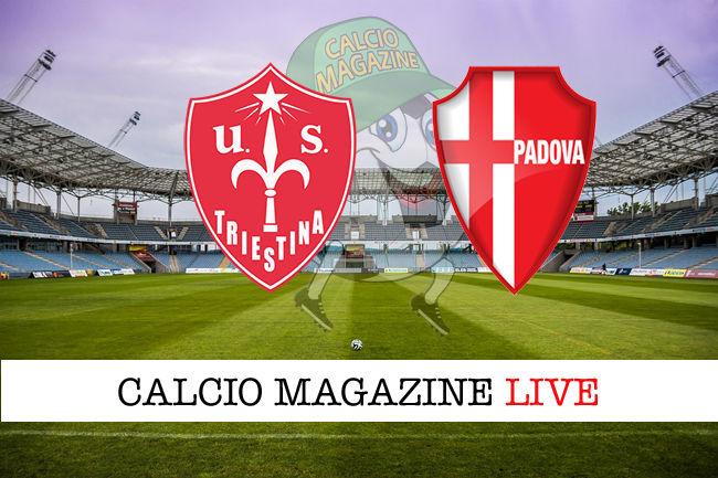 Triestina Padova Legnago Sudtirol cronaca diretta live risultato in tempo reale
