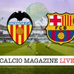 Valencia - Barcellona City cronaca diretta live risultato in tempo reale