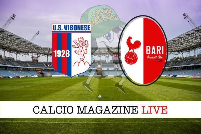 Vibonese - Bari cronaca diretta live risultato in tempo reale