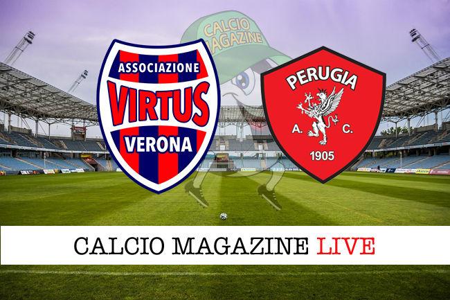Virtus Verona - Perugia cronaca diretta live risultato in tempo reale