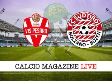 Vis Pesaro - Sudtirol cronaca diretta live risultato in tempo reale