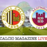 Ascoli Cittadella cronaca diretta live risultato in tempo reale