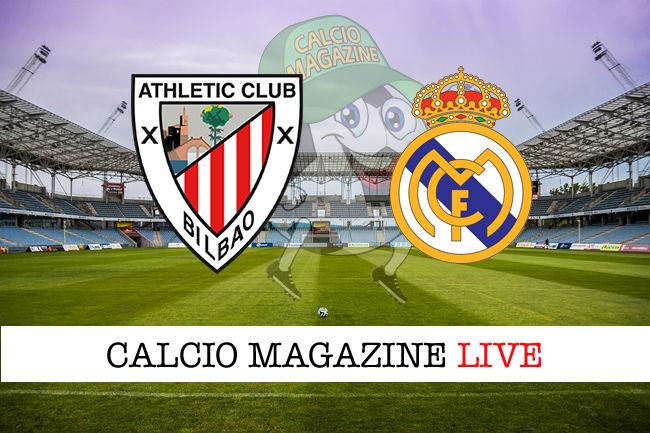 Athletic Bilbao - Real Madrid cronaca diretta live risultato in tempo reale