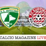 Avellino Sudtirol cronaca diretta live risultato in tempo reale