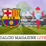 Barcellona - Celta Vigo cronaca diretta live risultato in tempo reale