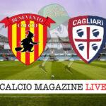Benevento Cagliari cronaca diretta live risultato in tempo reale