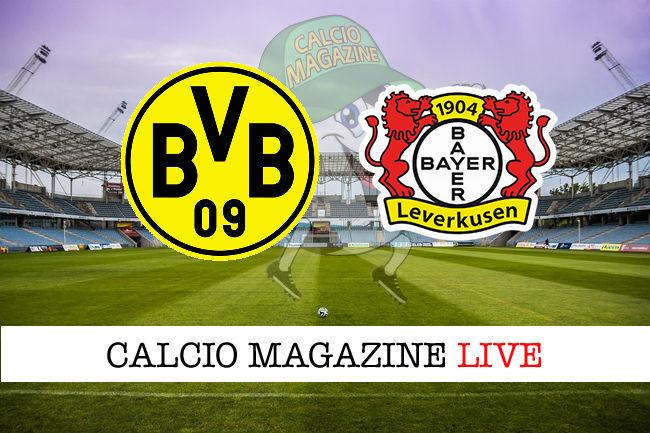 Borussia Dortmund Bayer Leverkusen cronaca diretta live risultato in tempo reale