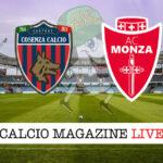 Cosenza Monza cronaca diretta live risultato in tempo reale