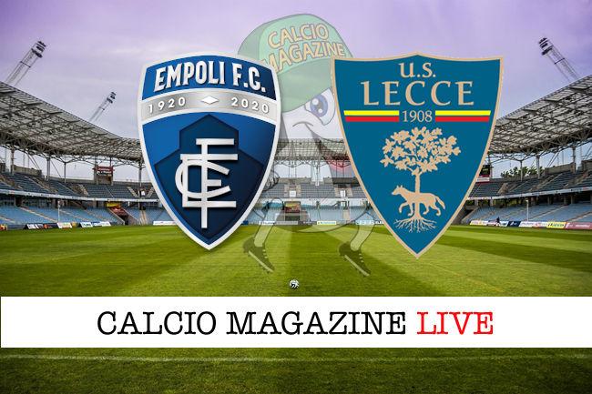 Empoli Lecce cronaca diretta live risultato in tempo reale
