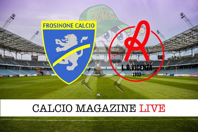 Frosinone - L.R. Vicenza cronaca diretta live risultato in tempo reale