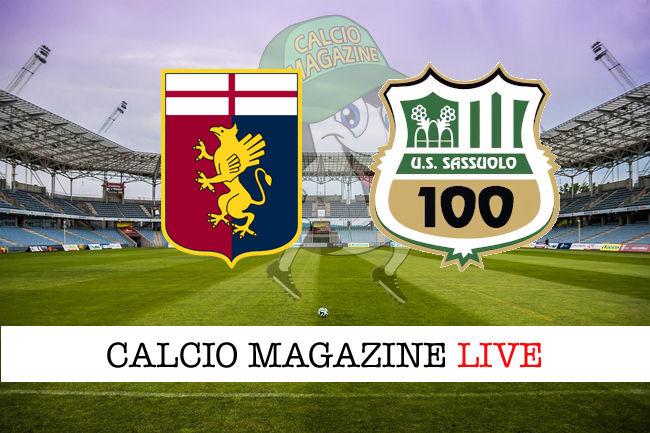 Genoa Sassuolo cronaca diretta live risultato in tempo reale
