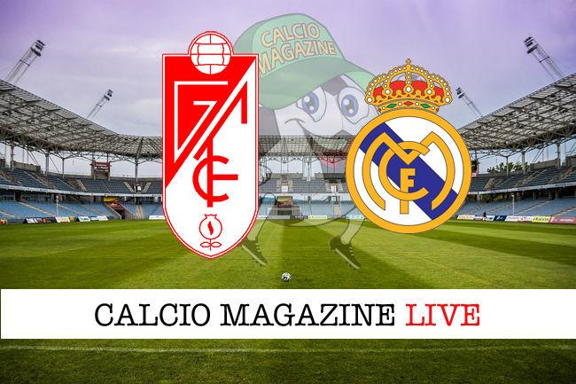 Granada Real Madrid cronaca diretta live risultato in tempo reale