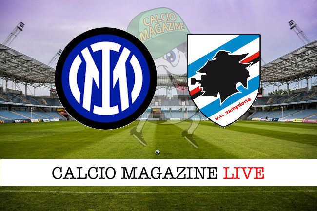 Inter - Sampdoria cronaca diretta live risultato in tempo reale