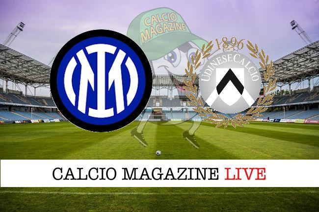 Inter Udinese cronaca diretta live risultato in tempo reale