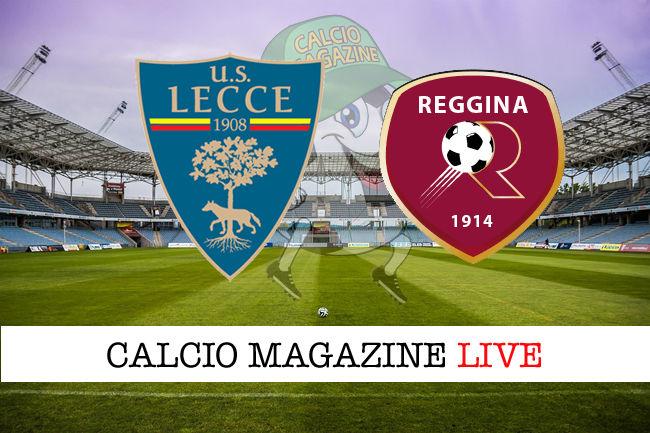 Lecce Reggina cronaca diretta live risultato in tempo reale
