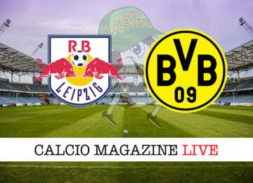 Lipsia - Borussia Dortmund cronaca diretta live risultato in tempo reale