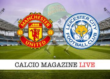 Manchester United - Leicester cronaca diretta live risultato in tempo reale