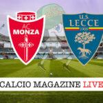 Monza Lecce cronaca diretta live risultato in tempo reale