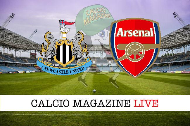 Newcastle - Arsenal cronaca diretta live risultato in tempo reale