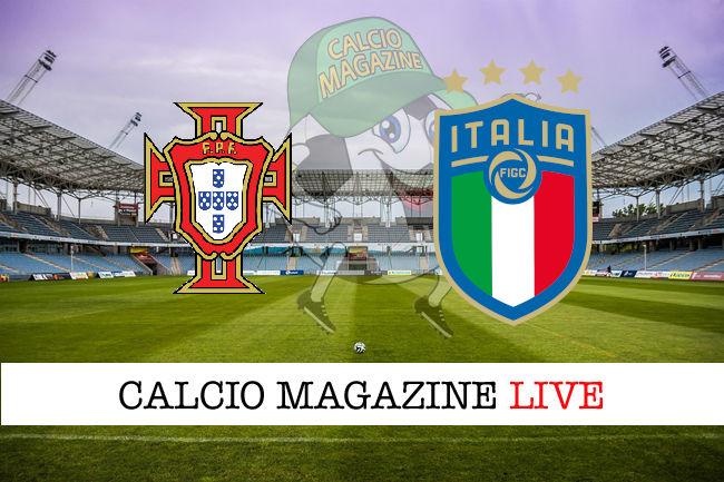 Portogallo Italia cronaca diretta live risultato in tempo reale