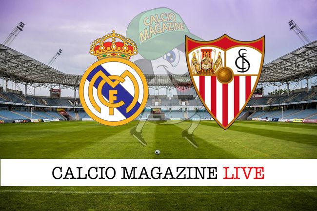 Real Madrid - Siviglia cronaca diretta live risultato in tempo reale