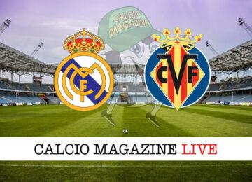 Real Madrid Villareal cronaca diretta live risultato in tempo reale