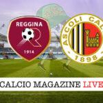 Reggina Ascoli cronaca diretta live risultato in tempo reale