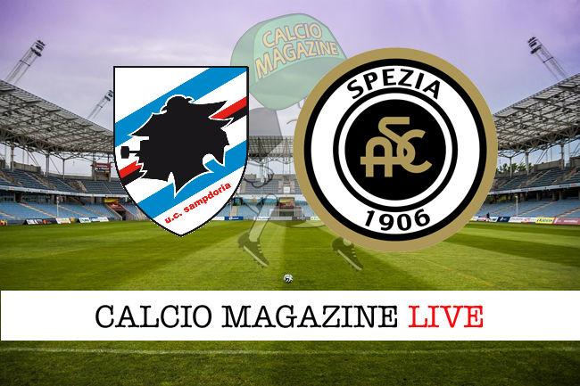 Sampdoria Spezia cronaca diretta live risultato in tempo reale