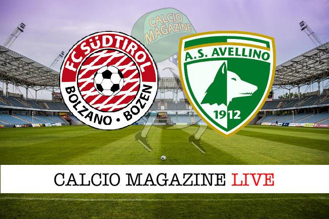 Sudtirol Avellino cronaca diretta live risultato in tempo reale