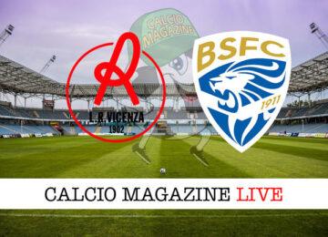 Vicenza - Brescia cronaca diretta live risultato in tempo reale