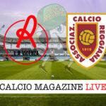 L. R. Vicenza - Reggiana cronaca diretta live risultato in tempo reale