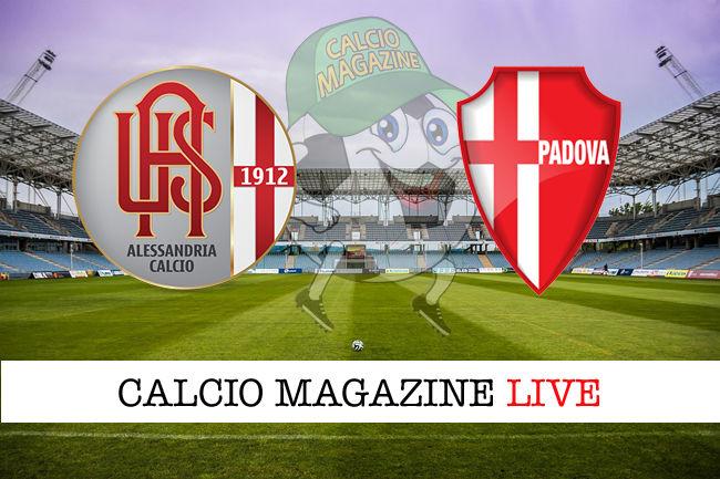 Alessandria Padova cronaca diretta live risultato in tempo reale