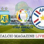 Argentina Paraguay cronaca diretta live risultato in tempo reale
