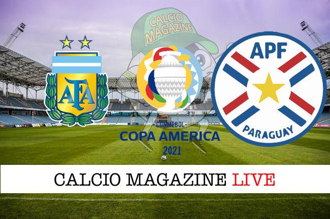 Argentina – Paraguay: dove vedere la diretta live, risultato in tempo reale