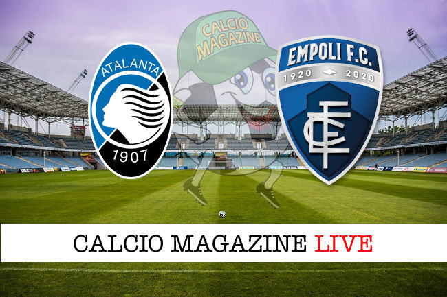 Atalanta Empoli cronaca diretta live risultato in tempo reale