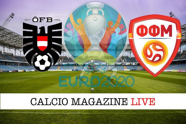 Austria Macedonia del Nord euro 2020 cronaca diretta live risultato in tempo reale
