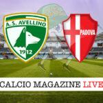 Avellino - Padova cronaca diretta live risultato in tempo reale