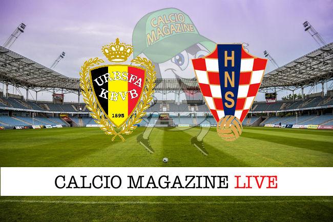 Belgio Croazia cronaca diretta live risultato in tempo reale