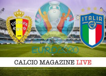 Belgio Italia Euro 2020 cronaca diretta live risultato in tempo reale