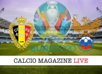 Belgio Russia euro 2020 cronaca diretta live risultato in tempo reale