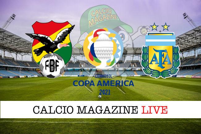 Bolivia Argentina Copa America cronaca diretta live risultato in tempo reale