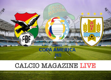 Bolivia Uruguay cronaca diretta live risultato in tempo reale