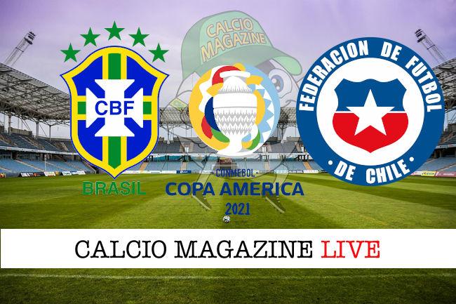 Brasile Cile cronaca diretta live risultato in tempo reale