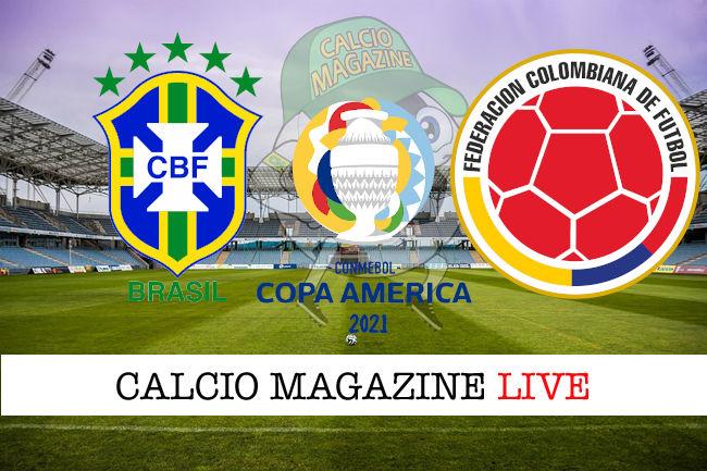 Brasile Colombia cronaca diretta live risultato in tempo reale