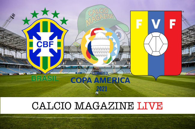 Brasile Venezuela cronaca diretta live risultato in tempo reale