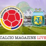 Colombia Argentina cronaca diretta live risultato in tempo reale