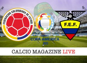 Colombia Ecuador cronaca diretta live risultato in tempo reale