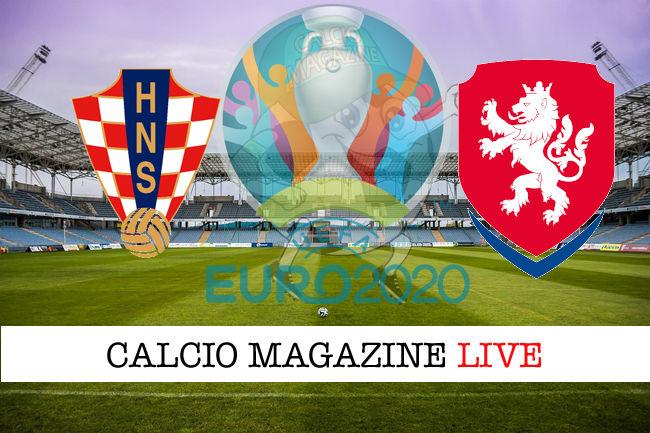 Croazia Repubblica Ceca Euro 2020 cronaca diretta live risultato in tempo reale