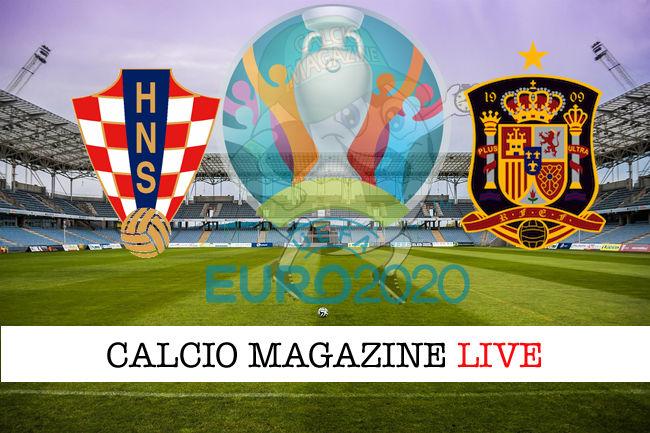 Croazia Spagna Euro 2020 cronaca diretta live risultato in tempo reale