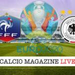 Francia Germania Euro 2020 cronaca diretta live risultato in tempo reale